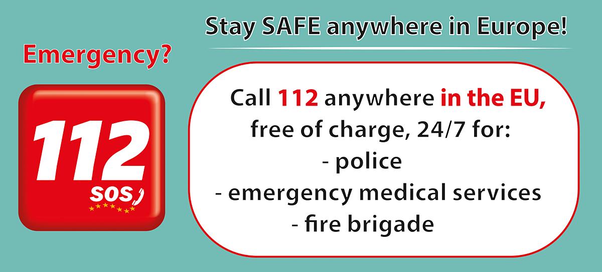 emergency 112 abroad